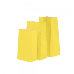 """Matte Yellow Kraft Paper Merchandise (Lunch/Favor) Bags 15.5 cm x 10 cm x 30 cm (6"""" x 3.75"""" x 11.75"""") (600 Bags/Lot)"""