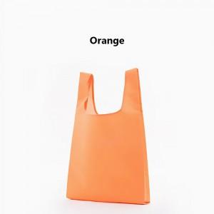 "Orange Reusable Nylon Foldable Shopping Grocery Bags 33 cm x 55 cm (13"" x 21.5"") (200 Bags/Lot)"