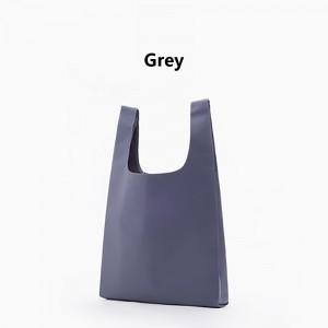 "Gray Reusable Nylon Foldable Shopping Grocery Bags 33 cm x 55 cm (13"" x 21.5"") (200 Bags/Lot)"
