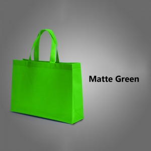 "Green Reusable Non-Woven Flat Bottom Gusset Shopping Tote Bags 35 cm x 25 cm x 10 cm (13.5"" x 9.75"" x 3.75"") (200 Bags/Lot)"
