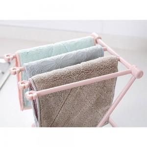 Indoor Foldable Pink Dishcloth & Towel Dryer Rack (20 x 16 x 25.5 cm)  100 Pieces/Lot