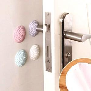 "White Pores Silicone Self Adhesive Doorknob Guard Bumpers 5 cm (1.75"") 800 Pieces/Lot"