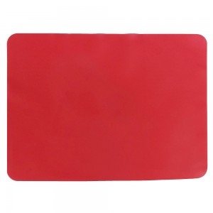 "Red Non-Slip Insulated Silicone Tableware Mat For Plates/Cups/Utensils 30 x 40 cm (11.75 x 15.5"") 80 Pieces/Lot"