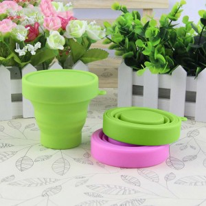 Green Silica Gel Collapsible Cup for Loose Leaf Tea 100 Pieces/Lot