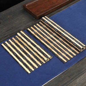 """Light Brown & Black Bamboo Placement Mats Heat-Resistant for Tea Sets in 25.5 cm x 20 cm (10"""" x 7.75"""") 100 Pieces/Lot"""