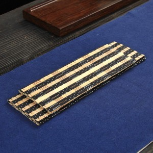 """Light Brown & Black Bamboo Placement Mats Heat-Resistant for Tea Sets in 33.5 cm x 25 cm (13"""" x 9.75"""") 100 Pieces/Lot"""