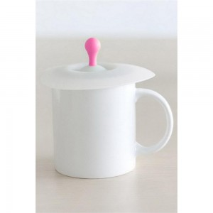 Pink Silica Gel Button Cup Lid Reusable Anti-dust Airtight Drink Cup Mug Covers 200 Pieces/Lot