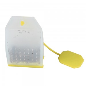 Transparent & Yellow Food Grade Silicone Teabag Infuser for Loose Leaf Tea Reusable Strainer Filter 100 Pieces/Lot