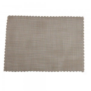 "Light Grey Plastic Placement Mats Heat-Resistant for Tea Sets in 33*24cm (12.75""*9.25"") 100 Pieces/Lot"