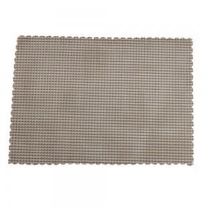 "Light Grey Plastic Placement Mats Heat-Resistant for Tea Sets in 38*28cm (14.75""*11"") 100 Pieces/Lot"