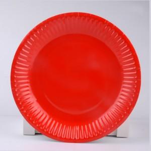 "7"" Red Disposable 300g Paper Party Plates(1000pcs Plates/Lot)"
