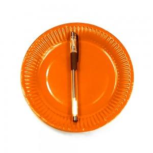 """7"""" Orange Disposable 300g Paper Party Plates(1000pcs Plates/Lot)"""