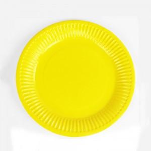 "7"" Yellow Disposable 300g Paper Party Plates(1000pcs Plates/Lot)"