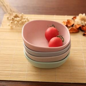Green&Pink&Blue&Beige Bamboo Bowl Platter Set(200 Sets/Lot)