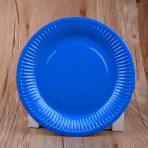 """9"""" Dark Blue Disposable 300g Paper Party Plates(900pcs Plates/Lot)"""