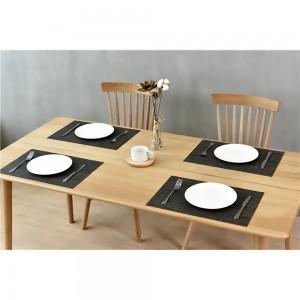 """11.75""""x 70"""" Black PVC Rectangular Table Placemat (80pcs Mats/Lot)"""