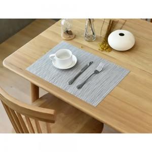 """11.75""""x 70"""" Light Gray PVC Rectangular Table Placemat (80pcs Mats/Lot)"""