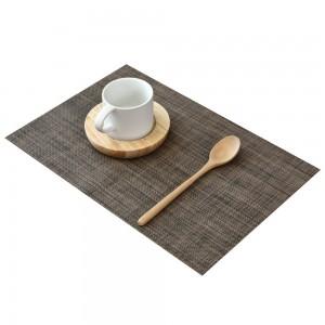 """11.75""""x 70"""" Brown PVC Rectangular Table Placemat (80pcs Mats/Lot)"""