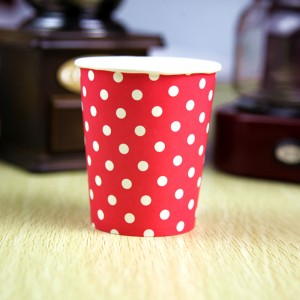 7oz Red Disposable Polka Dot Paper Drinking Cups(1200 Cups/Lot)