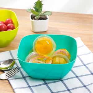 """5.5""""x5.5""""x2.75"""" Blue Plastic Small Serving Bowls(200pcs Bowls/Lot)"""