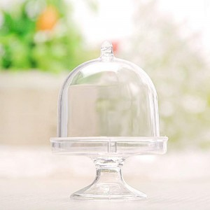 """Clear Plastic Mini Cake Stand Packaging Boxes for Wedding Favors [3""""x1.25""""] [200 Boxes/Lot]"""