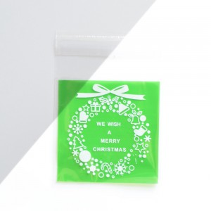 Green Ribbon OPP Mini Cookie Packaging Bag 7 cm x 7 cm (2.75 inches x 2.75 inches) [3200 Bags/Lot]