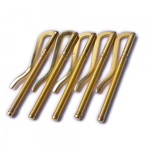 Single Sided Gold Electroplated Metal Spring Money Clip Replacement For Billfold Wallets or Standalone Use (100pcs/lot)
