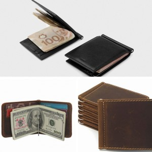 Single Sided Brown Electroplated Metal Spring Money Clip Replacement For Billfold Wallets or Standalone Use (100pcs/lot)