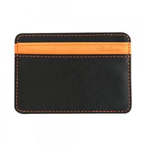 Black and Orange Textured Slim Magic Flip Slim Wallet (100pcs/lot)