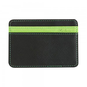 Black and Green Textured Slim Magic Flip Slim Wallet (100/lot)