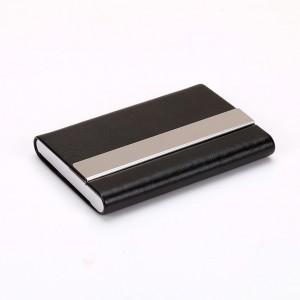 Slim Black Metallic Card Holder Wallet with Magnetic Flip Top (80/lot)