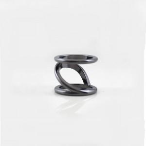 """Black Geometric Minimalist Ring 1.7cm (0.5"""") - 200/Lot"""