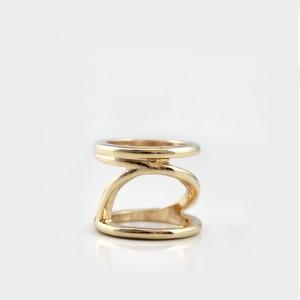 "Gold Geometric Minimalist Ring 1.7cm (0.5"") - 200/Lot"