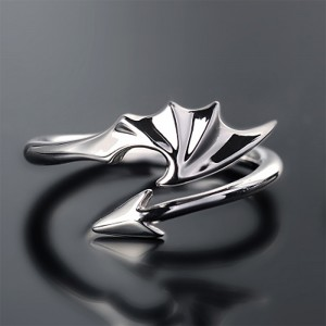 "Silver Devil's Wings Wrap Ring 2cm (0.75"") - 300/Lot"