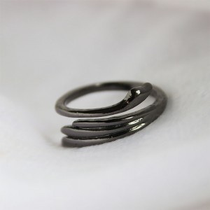 "Black Angel's Wings Wrap Ring 2cm (0.75"") - 300/Lot"