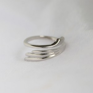 "Silver Angel's Wings Wrap Ring 2cm (0.75"") - 300/Lot"