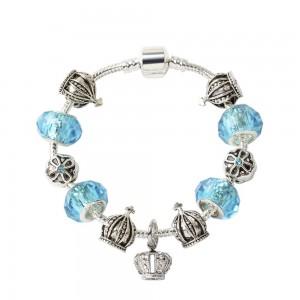 """Blue Snake Bone Beaded Bracelet 17cm (6.5"""") - 60/Lot"""