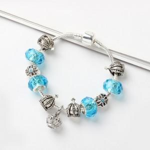 """Blue Snake Bone Beaded Bracelet 18cm (7"""") - 60/Lot"""
