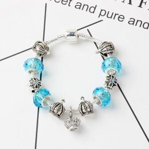 """Blue Snake Bone Beaded Bracelet 19cm (7.25"""") - 60/Lot"""