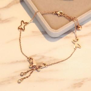 Gold Butterfly Tassel Anklet - 200/Lot