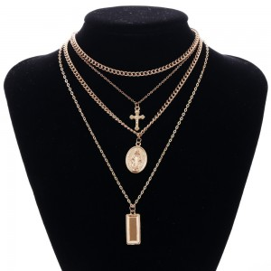 Gold Multi-Layer Religious Necklace - 100/Lot