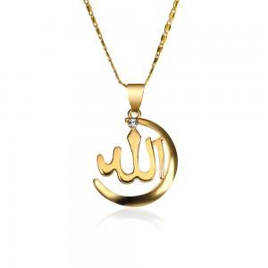 "Gold Muslim Allah Religious Necklace 45cm (17.5"") - 100/Lot"
