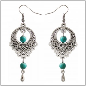 Silver Bohemian Vintage Drop Earrings - 200/Lot