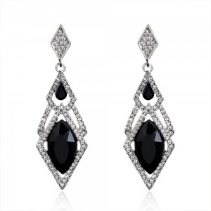 Black Diamond Woven Chandelier Earrings - 90/Lot