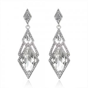 Sliver Diamond Woven Chandelier Earrings - 90/Lot