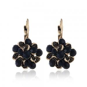 Black Flower Leverback Earrings - 200/Lot