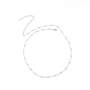 "Silver Beaded Belly Body Chain Jewelry 80cm + 15cm (31.25"" + 5.75"") - 300/Lot"