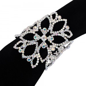 "Silver Multi-Layered Bridal Flower Arm Body Chain Jewelry 22.5cm+7.5cm+21cm (8.75""+2.75""+8"") - 60/Lot"