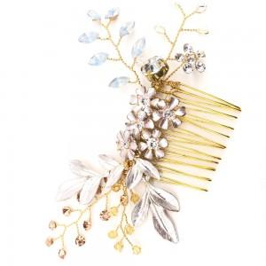 Gold Bridal Flower Vine Comb Hair Accessory - 70/Lot