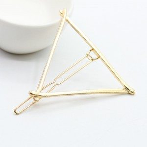 "Gold Triangle Hair Clip Accessory 5.8cm (2.25"") - 100/Lot"